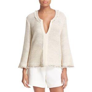 IRO Koltone Fringe Knit V-Neck Sweater \\ Sz 40